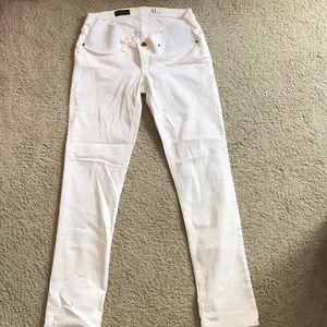 White J.Crew Maternity Jeans